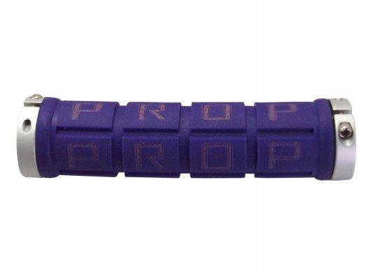 Велосипедные грипсы PROPALM hy-2004ep, для Fixed Gear, 128мм, с 2 грипстопами, фиолетовые, в упаковке
