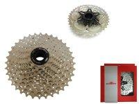 Кассета  SUNRACE csms1 TAW 10 скоростей, дискретная, 11-36Т, 2 стальных паука, вес 390г, хромированная, в торговой упаковке