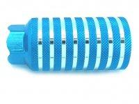 Пега  TBS алюминий. Синяя с насечками. Резьбовая 10мм отверстие