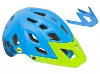 Шлем велосипедный  Kellys razor mips ocean blue, 23 отверстия, платформа для камеры, дополнительный козырёк, система защиты головы mips