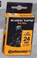 Ободная лента  CONTINENTAL easy tape rim strip (до 116 psi), чёрная, 24 - 559, 2шт.