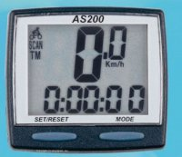 Велокомпьютер TBS AS-200 проводной,чёрный