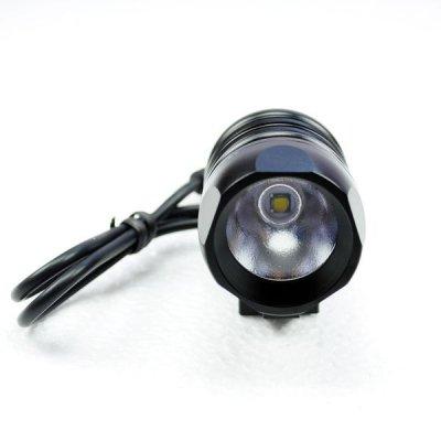 Велосипедный и налобный фонарь FanShine 1600-люмен, 3 режима. (черный)