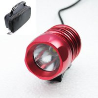 Велосипедный и налобный фонарь FanShine 1600-люмен, 3 режима. (красный)