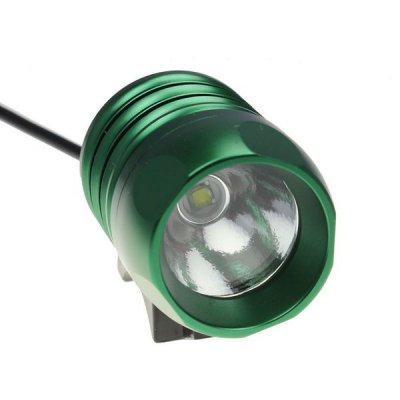 Велосипедный и налобный фонарь FanShine 1600-люмен, 3 режима. (зеленый)