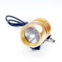 Велосипедный и налобный фонарь FanShine 1600-люмен, 3 режима. (желтый)