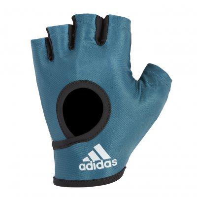 Перчатки для фитнеса Adidas сине-зеленые