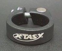Зажим X-TAZ-Y подседельный под шестигранник 28,6мм ал.6061 T6 чёрный матовый 21г.