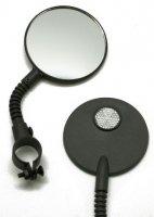"Зеркало TBS CL-129, 3"", круглое на гибкой ножке с белым катафотом"