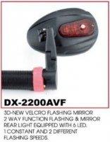 Зеркало TBS DX-2200AVF с 6-диодной красной мигалкой