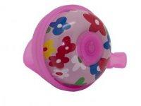 Звонок TBS FY-034A-F2 D:45мм, алюм./пластик, цветы на розовом фоне